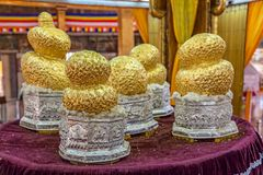 The Ngaphe Chaung Monastery relics Royalty Free Stock Photo