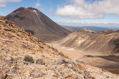 Ngauruhoe volcano in Tongariro National Park Stock Images