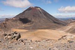 Ngauruhoe volcano in Tongariro National Park. In New Zealand Stock Photo