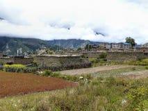 Ngawal village Stock Photo