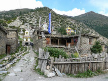 Ngawal village, Nepal Royalty Free Stock Photos