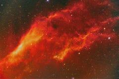 NGC 1499年加利福尼亚星云 免版税图库摄影