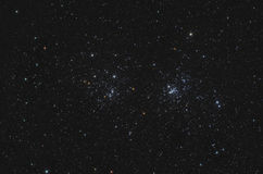 NGC 869 and NGC 884 Double Open Cluster in Perseus Royalty Free Stock Photo