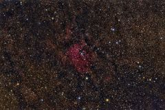 NGC 6823  Cluster in the constellation Vulpecula. Imaged with a telescope and a scientific CCD camera vector illustration