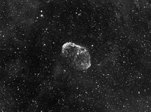NGC6888 Crescent Nebula. In Hydrogen-Alpha Stock Photography