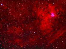 NGC1491 emissienevel in perseus Stock Foto's