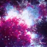 NGC Fractorium galaktyki głęboka eksploracja przestrzeni kosmicznej z ciężką bokeh fractal sztuką Obrazy Royalty Free