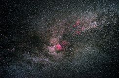 NGC7000, North America nebula in Cygnus constellation stock images