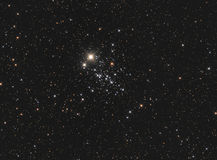 NGC 457 The Owl Cluster. NGC 457 (also known as the Owl Cluster, the ET Cluster, or Caldwell 13) is an open star cluster in the constellation Cassiopeia. It is 7 Stock Photos