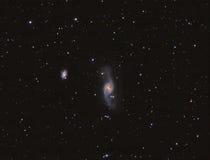 NGC3718 scheefgetrokken spiraalvormige melkweg in Ursa Major Royalty-vrije Stock Afbeeldingen