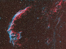 NGC 6992 skyler nebulosan Royaltyfria Bilder