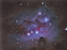 Ngc1977 Running man nebula. Ngc1977 Running man astronomy telescope nebula star stock photo