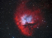 NGC281 Pacman Nebula. Astronomy telescope star royalty free stock photo