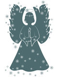 Ángel de la Navidad con una vela Imagenes de archivo