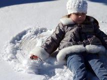 Ángel de la nieve Imágenes de archivo libres de regalías