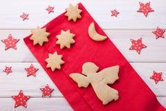 Ángel de Navidad en las estrellas Imágenes de archivo libres de regalías