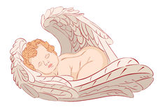 Ángel el dormir Imagenes de archivo