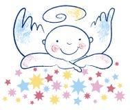 Ángel inocente y estrellas Imágenes de archivo libres de regalías