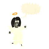 ángel retro de la historieta con la burbuja del discurso Imagen de archivo libre de regalías