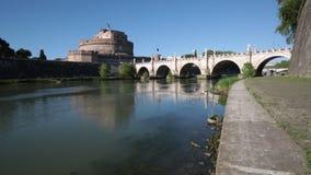 ` ?ngel, Roma, Italia de Castel Sant almacen de metraje de vídeo