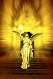 ängel som medf8or gudomlig lampa Fotografering för Bildbyråer