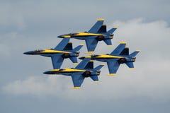 Ángeles azules F-18 Foto de archivo libre de regalías