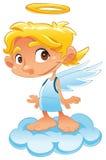 ängeln behandla som ett barn Arkivfoto