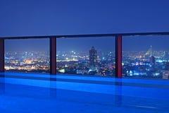 Ngiht da skyline t da cidade Fotografia de Stock Royalty Free