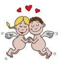 Änglar är förälskade Arkivbild