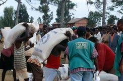 NGO CARE workers in Burundi. Royalty Free Stock Photo