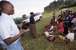 NGO CARE workers, Uganda Royalty Free Stock Image