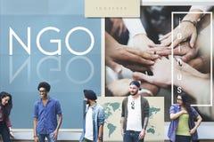 NGO Contribution Corporate Foundation Nonprofit begrepp royaltyfri fotografi