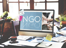 NGO Contribution Corporate Foundation Nonprofit Concept royalty free stock photography