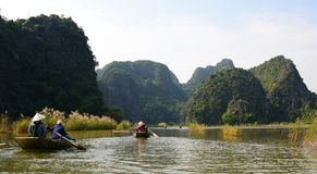 Ngo Dong river cruising. Tam Coc. Ninh Binh province. Vietnam Stock Photography