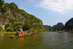 Ngo river cruising. Tam Coc. Ninh Binh province. Vietnam Stock Photo