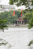 Ngoc Son Temple, at Hoan Kiem Lake, Hanoi, Vietnam. Stock Images