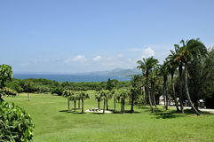 Ngoluanpi park beside the sea in Kenting. Ngoluanpi park in Kenting of Taiwan Stock Photo