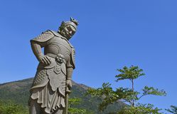 Ngong Ping Buddhist Guardian Statue Fotografía de archivo libre de regalías