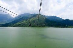 Ngong Ping Cable Car, Hong Kong Fotografía de archivo libre de regalías