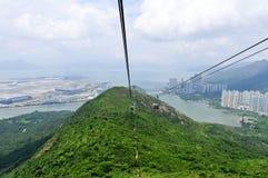 Ngong Ping Cable Car, Hong Kong Imágenes de archivo libres de regalías