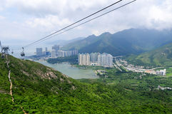 Ngong Ping Cable Car, Hong Kong Foto de archivo libre de regalías