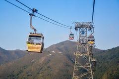 Ngong Ping cable car, Lantau, Hong Kong Royalty Free Stock Images