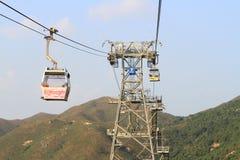 Ngong Ping 360 cable car on Lantau Island Stock Photo