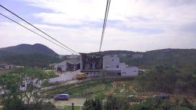 Ngong Ping 360 Cable car travel to Lantau Island, Hong Kong.