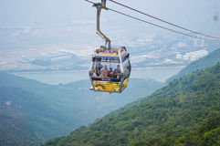 Ngong Ping Cable Car royalty free stock images