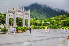 Ngong Ping Mount, Hong Kong Royaltyfria Bilder