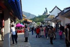 Ngong Ping Village Het Eiland van Lantau, Hongkong Royalty-vrije Stock Afbeeldingen