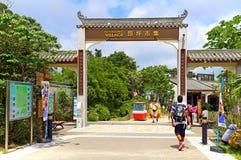 Ngong pingelt het dorp van Hongkong stock foto