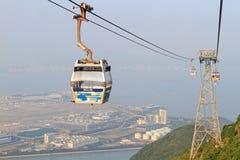 Ngong pingelt kabelwagen 360 op Lantau-Eiland Royalty-vrije Stock Foto's