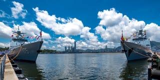 Ngong Shuen Chau sjö- grund Arkivbild